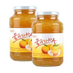 [담터] 담터 꿀유자차A 1kg+1kg (유자차 2병)