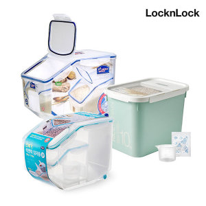 [락앤락] 쌀통10kg 계량컵+제습제 잡곡통 밀폐용기 쌀독