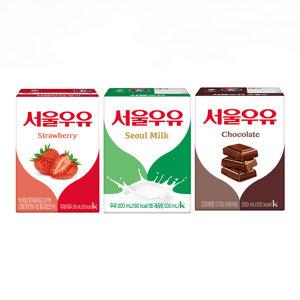 서울 흰우유 200mlx24입/멸균우유/흰/딸기/초코/우유