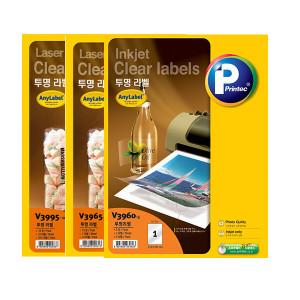 애니라벨 투명 라벨 모음 / 잉크젯 / 레이저 프린터