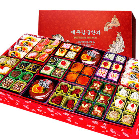 韩国传统糕点饼干韩果双层套装